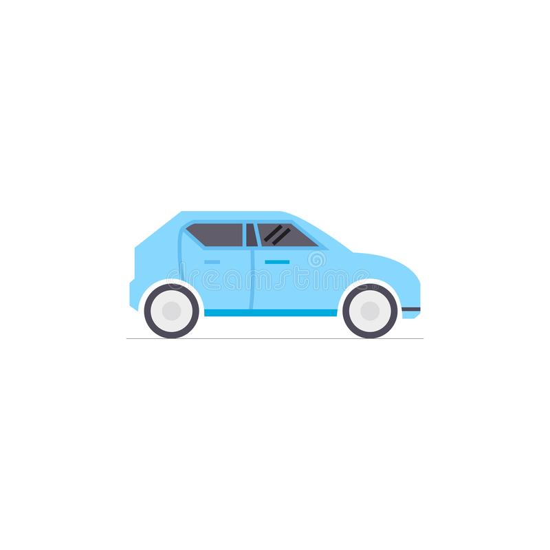 Flat icon for car, in modern style,vector illustrations stock illustration