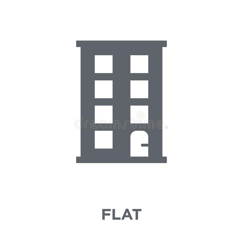 Flat icon from collection. royalty free illustration