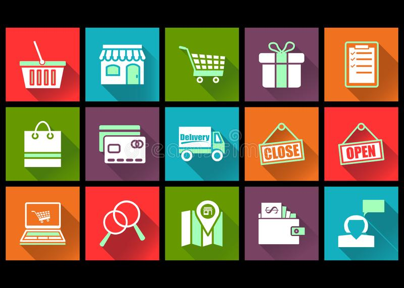 Flat icon design shopping and ecommerce vector illustration