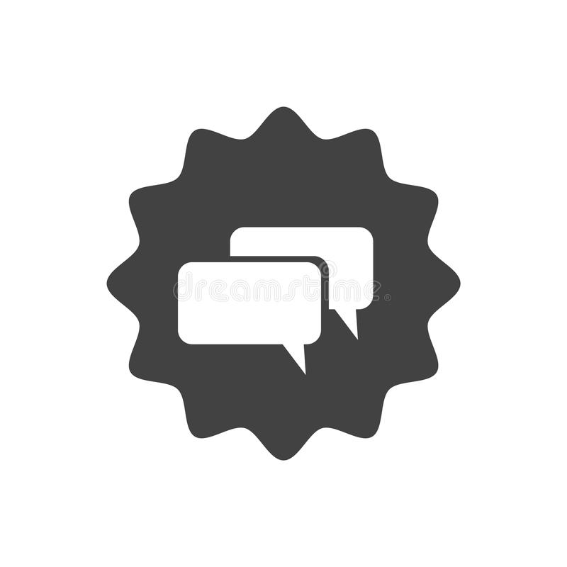 Flat icon design. Talk to us. Live chat symbol with speech bubbles vector illustration