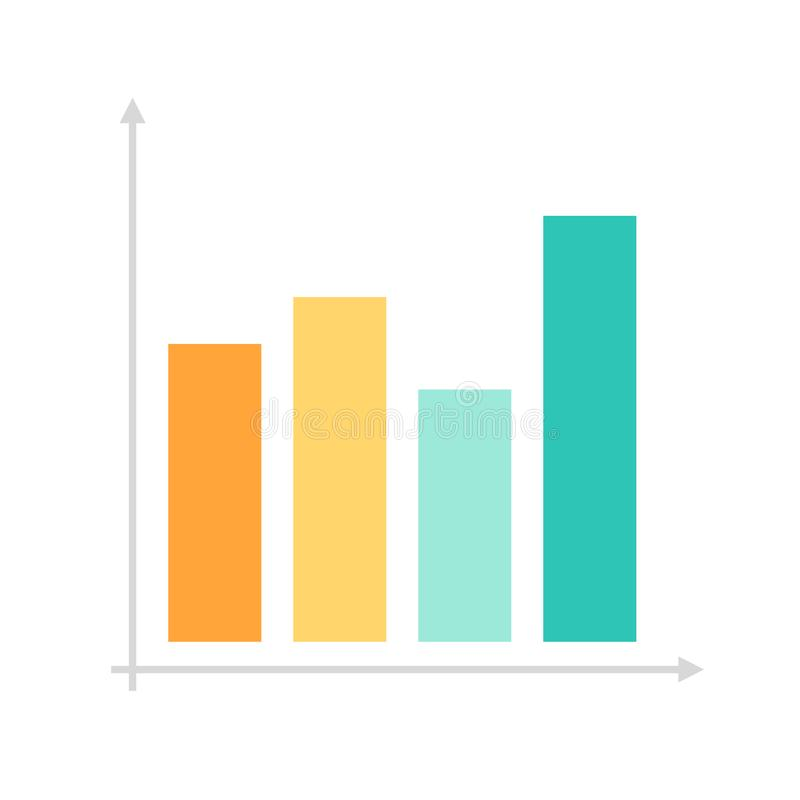 Flat icon graph royalty free stock images