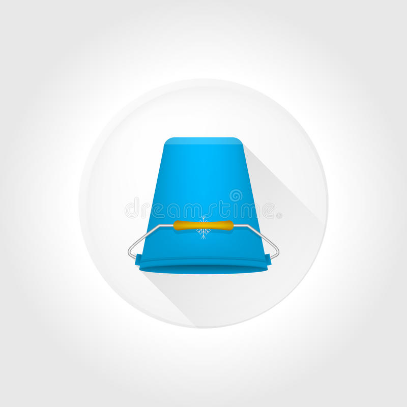 Flat icon for Ice Bucket Challenge. royalty free illustration