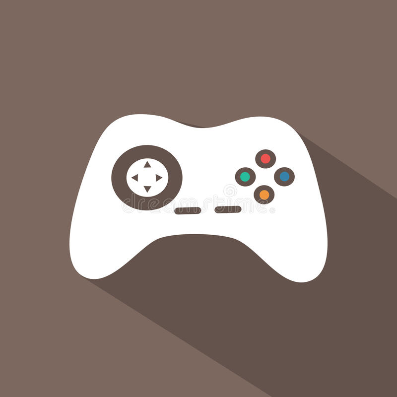 Flat icon. S for web and mobile applications. Game icon. Long shadow design vector illustration