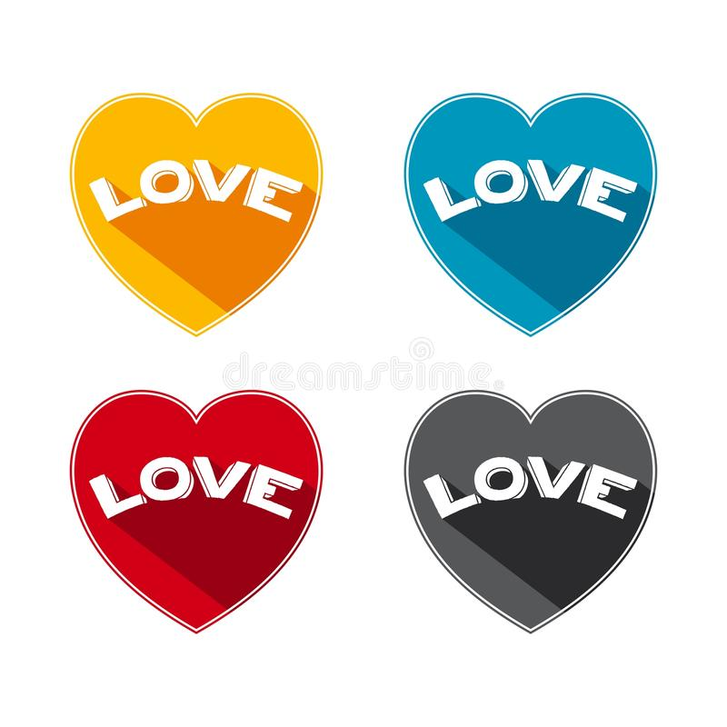 Flat icon love stock photography