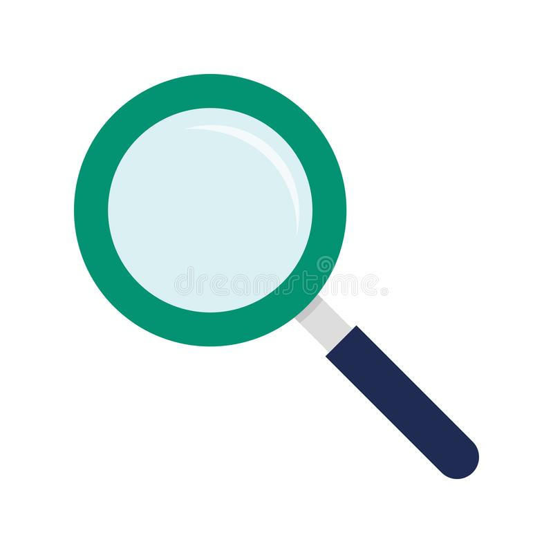 Flat icon magnifying glass stock photo