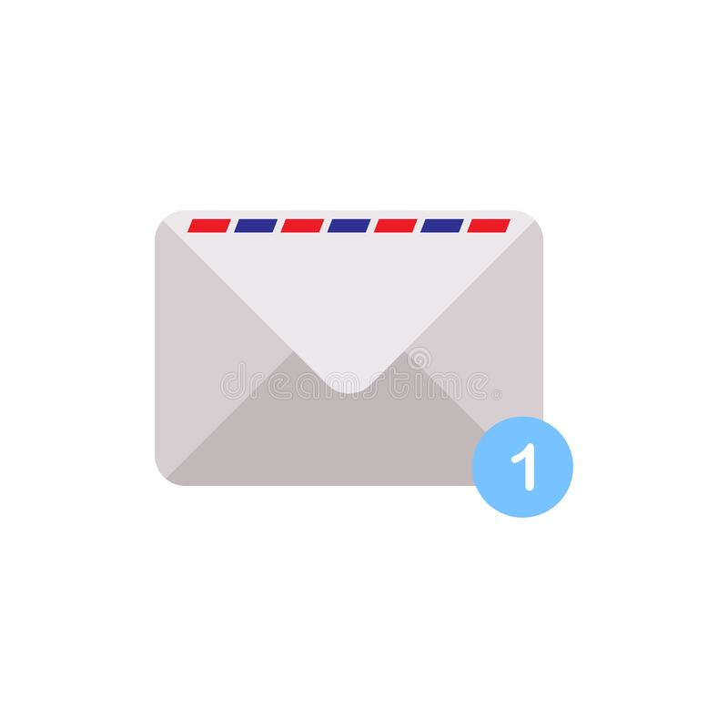 Flat icon for mailing in modern style,vector illustrations royalty free illustration