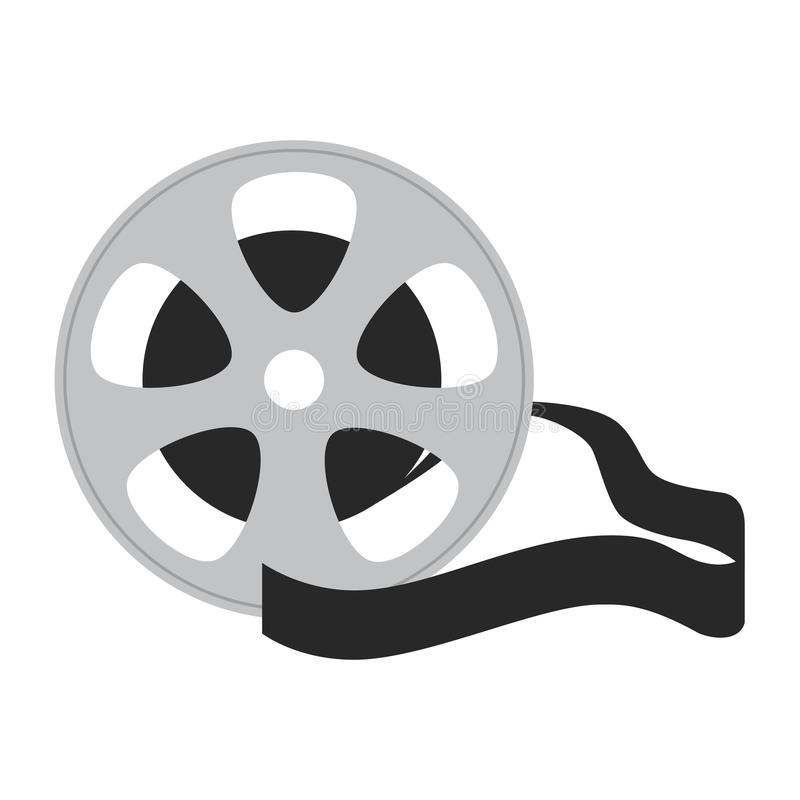 Flat icon movie tape vector illustration