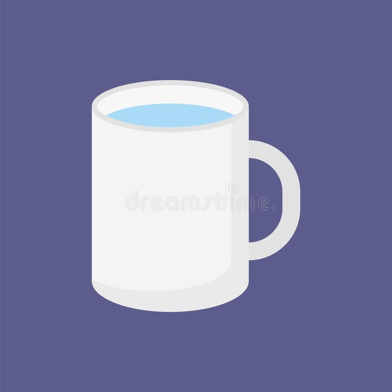 Flat icon mug of water vector illustration