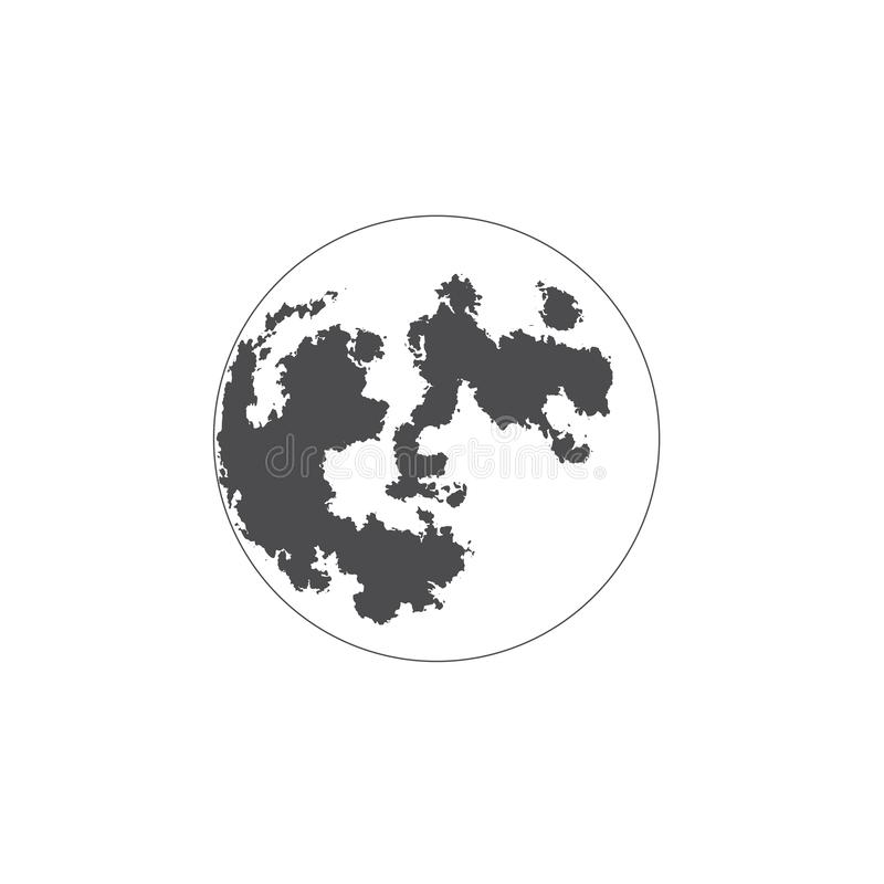 Flat icon planet. For web, business, finance and communication. Vector Illustration. EPS 10. stock illustration