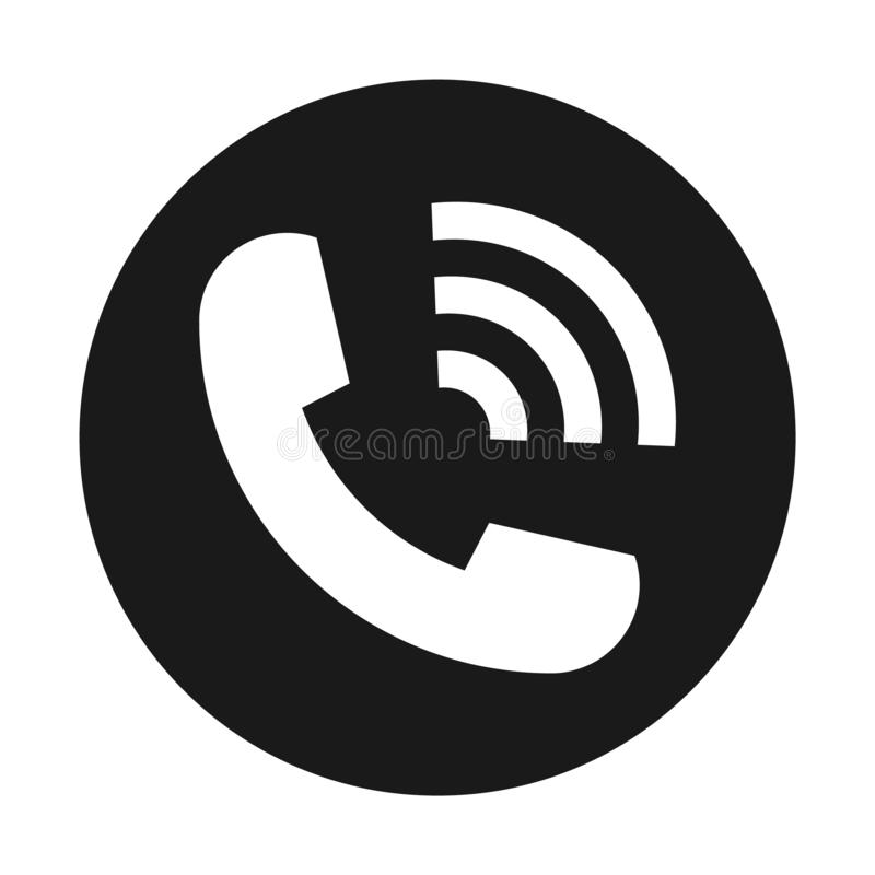 Flat icon ringing phone isolated on white background. Vector illustration stock illustration