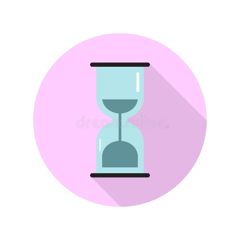 Flat icon for sand clock in modern style,vector illustrations royalty free illustration