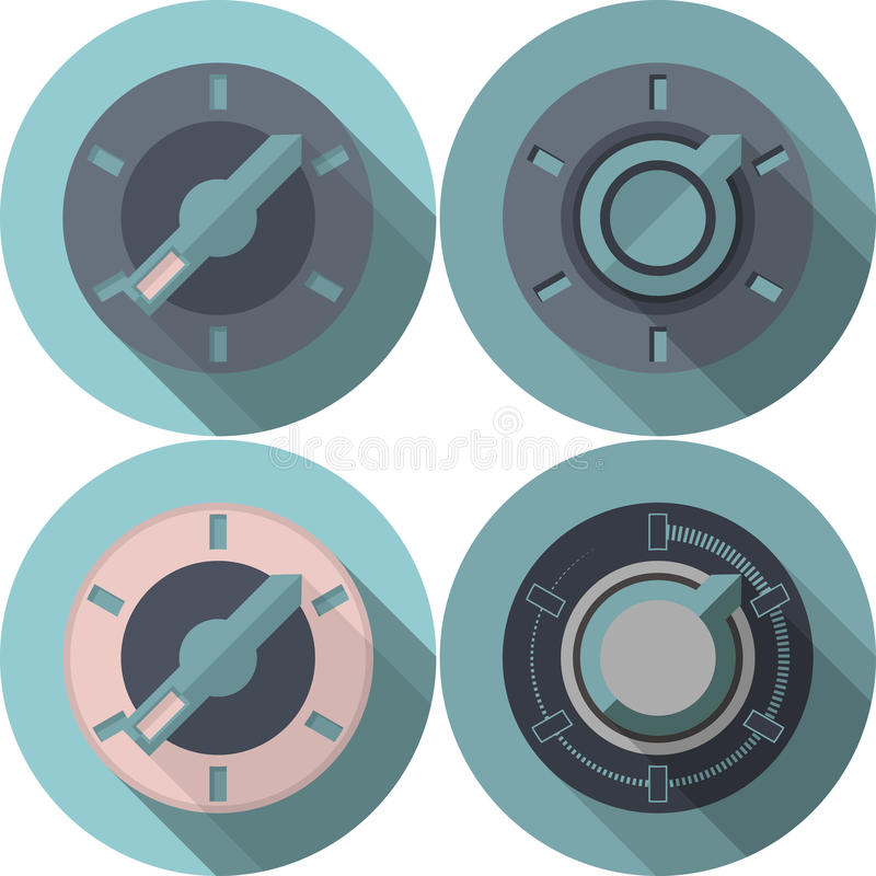 Flat icons collection for switcher stock illustration