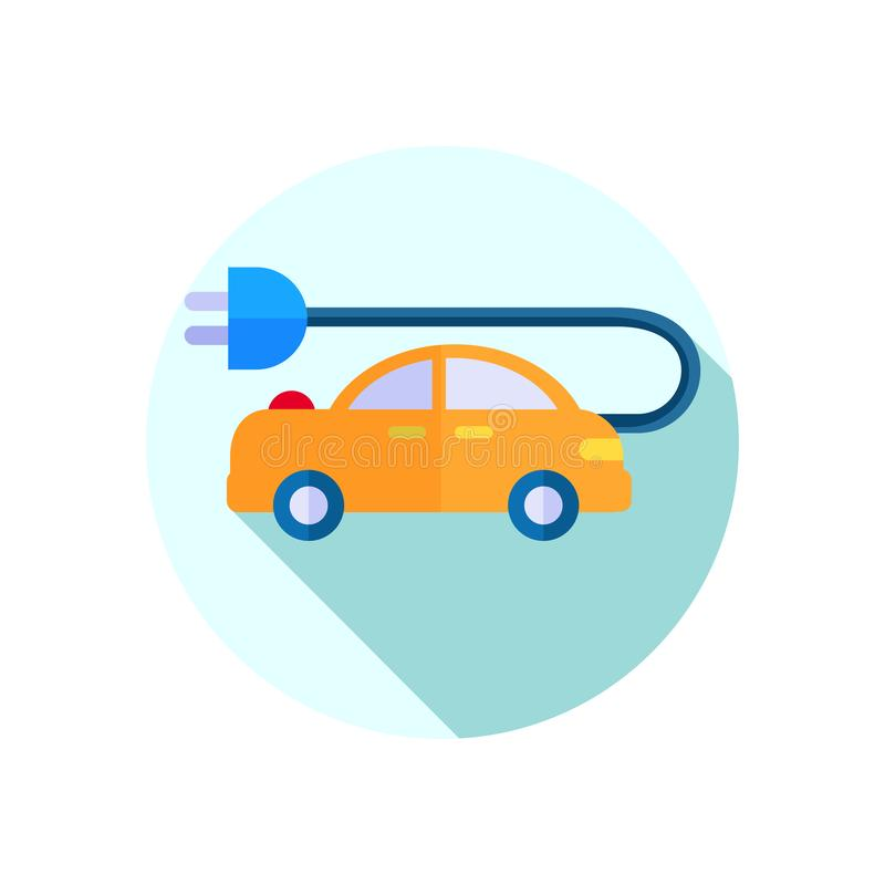 Free Flat Icons For Car And Plug,vector Illustrations Stock Images - 164058934