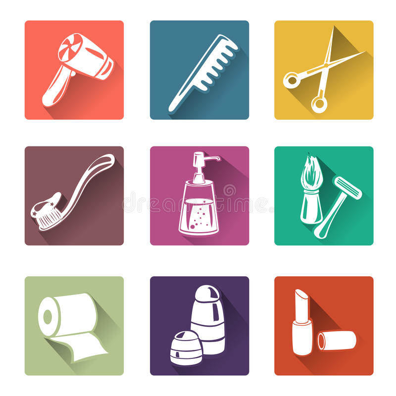 Flat Icons Personal Care Stock Vector Image 45446087