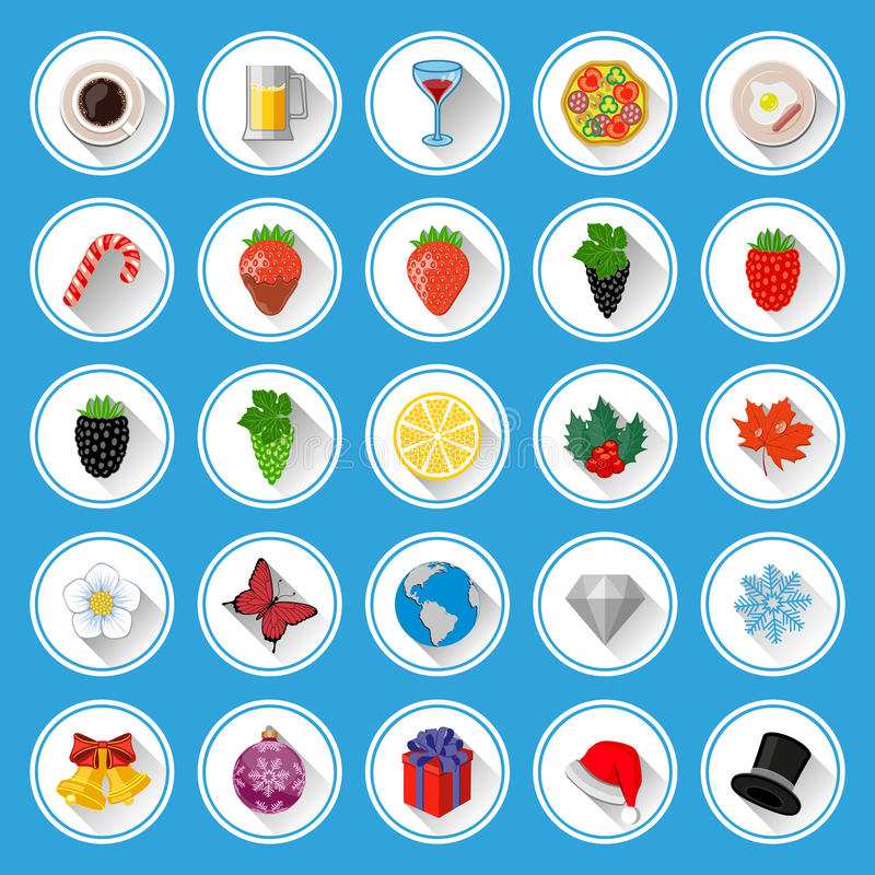 Download Flat Icons And Pictograms Set Stock Vector - Image: 36711893