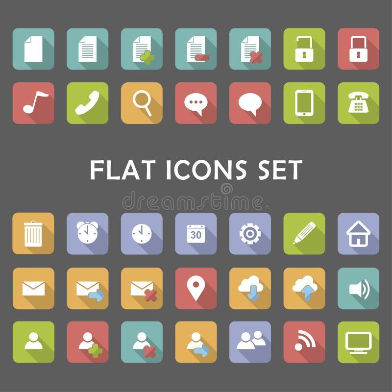 Flat Icons Set. royalty free stock photo