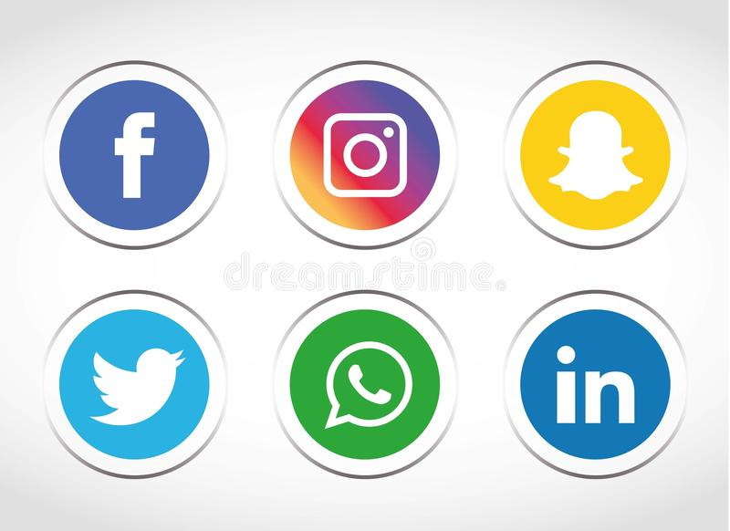 Flat icons technology, social media, network, computer concept. Abstract background with objects group of elements. star smiley f vector illustration