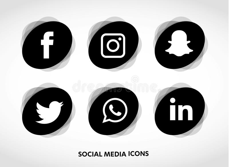 Flat icons technology, social media, network, computer concept. Abstract background with objects group of elements. star smiley f royalty free illustration