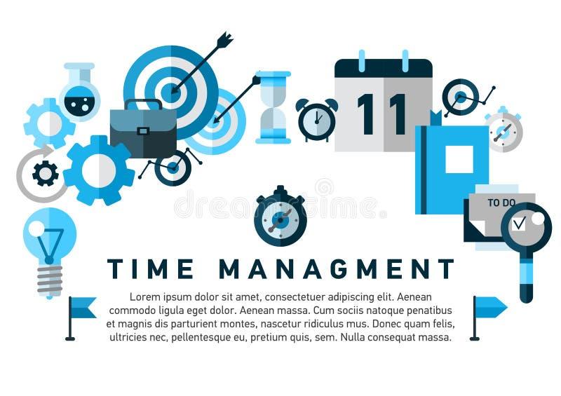Flat illustration concept of effective businessman stock illustration