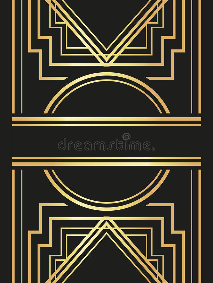Flat illustration about gatsby background design stock vector download flat illustration about gatsby background design stock vector illustration of gold invitation stopboris Image collections