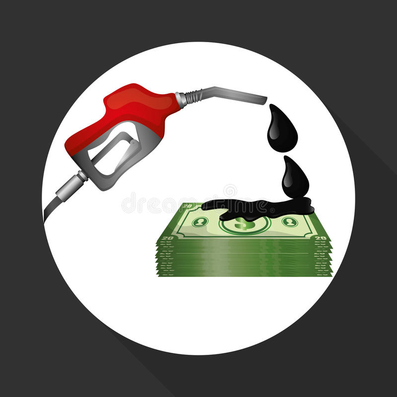Flat illustration about Oil price, petroleum and gas concepts. Oil price concept with icon design, vector illustration 10 eps graphic royalty free illustration