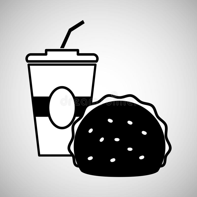 Flat illustration about soda design. Fast food concept with icon design, vector illustration 10 eps graphic royalty free illustration
