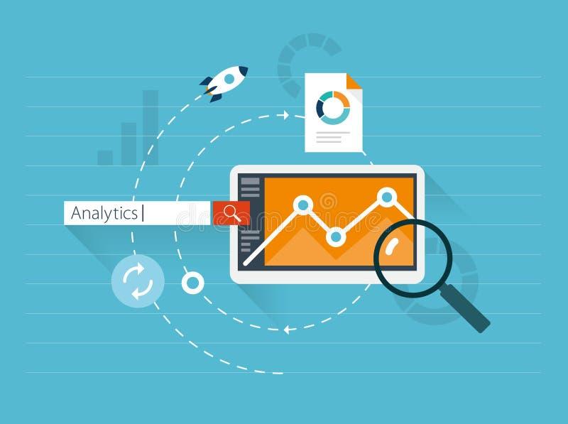 Flat illustration web analytics vector illustration