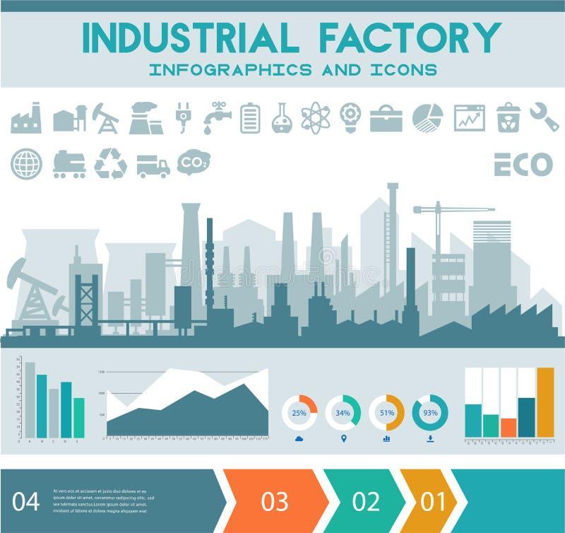 Flat Industrial Factory Inforgraphics Template Stock Vector ...