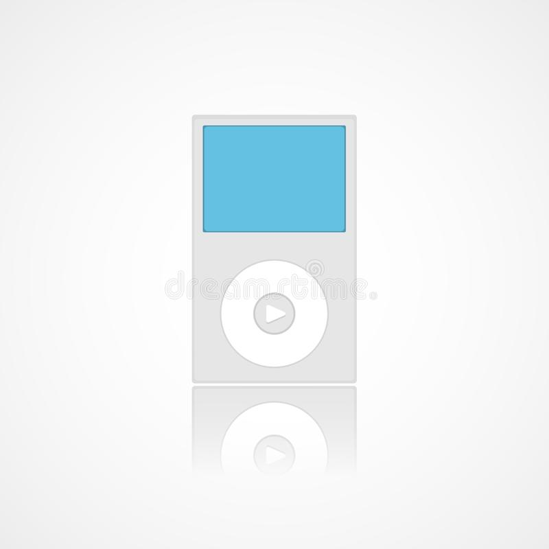 Flat ipod icon in trendy design style vector illustration