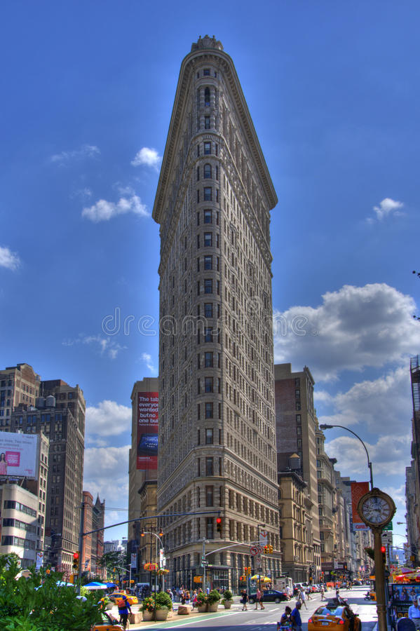 Flat Iron Building (HDR) stock images