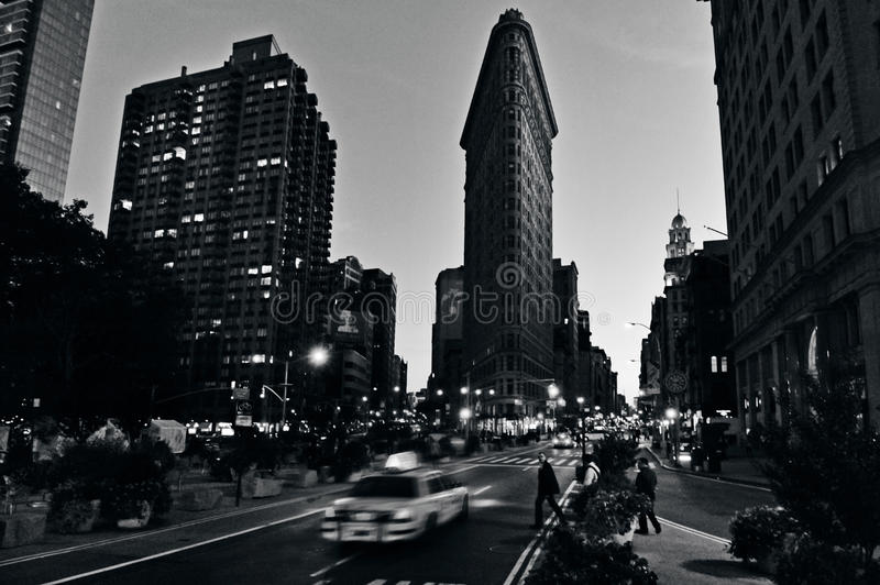 Flat Iron building in Manhattan New York City stock images