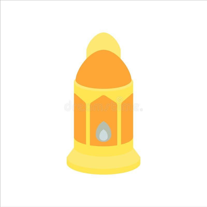 Flat isolated colorful ramadan kareem and eid mubarak lantern, pastel color, illustration and background vector stock image