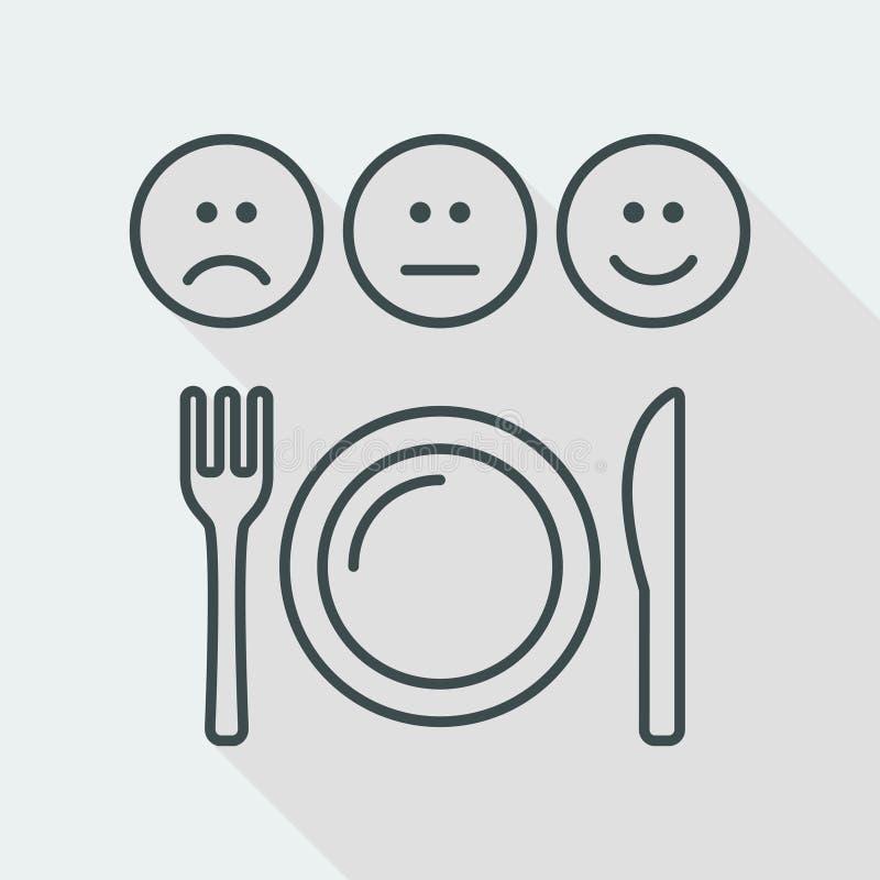 Restaurant rating icon - Thin series stock illustration