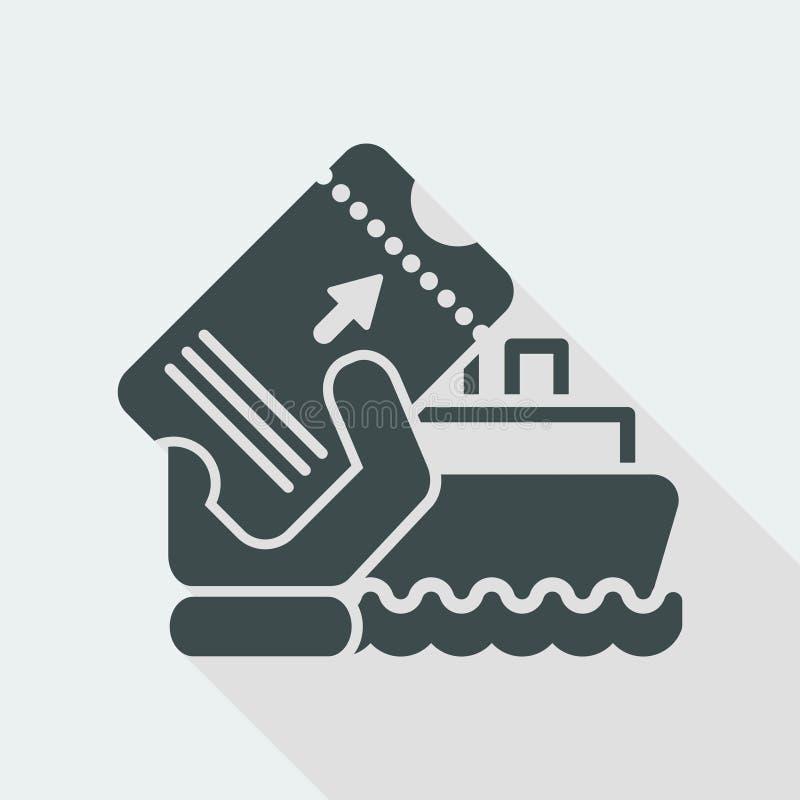 Boat ticket royalty free illustration