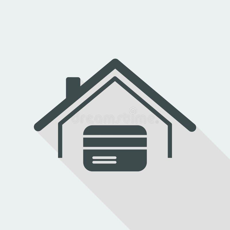Credit card concept - Vector web icon vector illustration