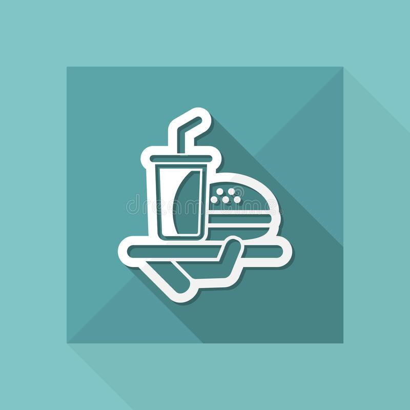 Fast food icon stock illustration