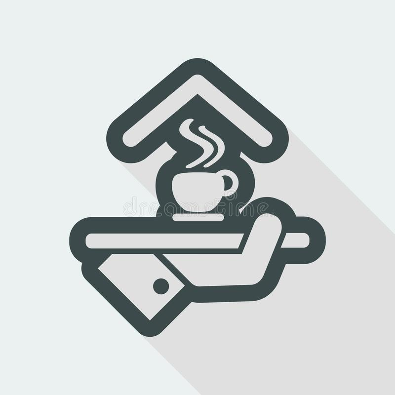 Hotel icon. Breakfast icon. royalty free illustration
