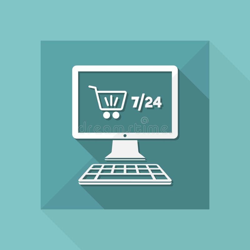 Time Help Hour Icon Internet Market Merchandise Online Open Pc Purchase Sale Service Seven Shop Store Support Time Vector Web Website Week Work Stock Illustrations 18 Time Help Hour Icon Internet