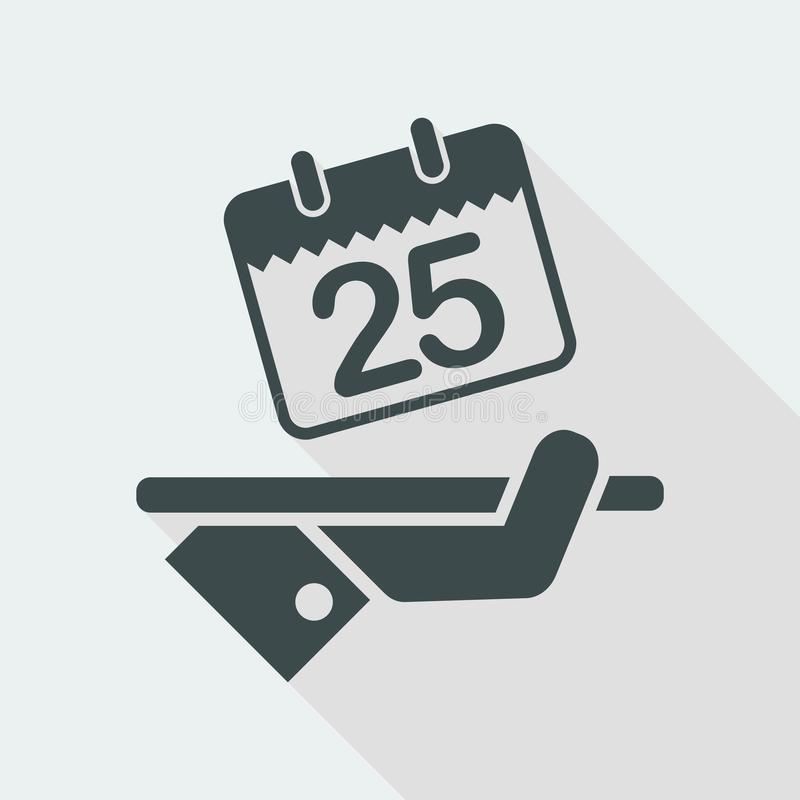 Save the date. Flat and isolated vector eps illustration icon with minimal design and long shadow vector illustration