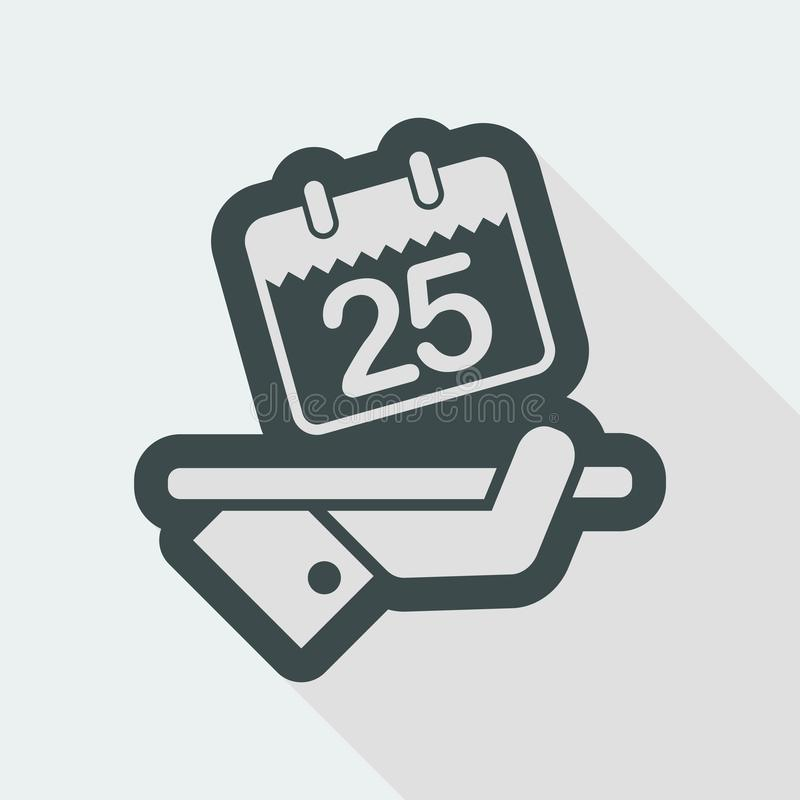 Save the date. Flat and isolated vector eps illustration icon with minimal design and long shadow royalty free illustration