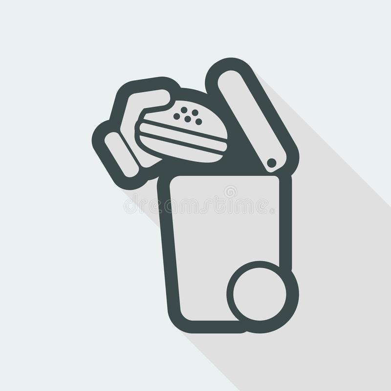 Separate waste collection icon royalty free illustration