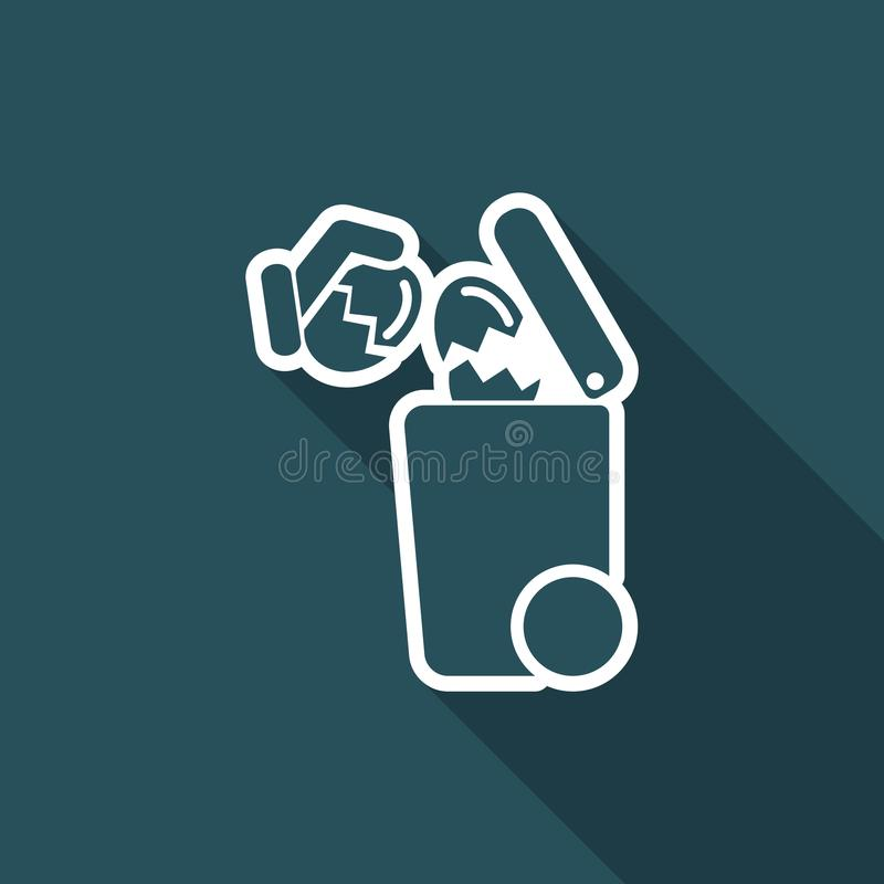 Separate waste collection icon - Eggs royalty free illustration