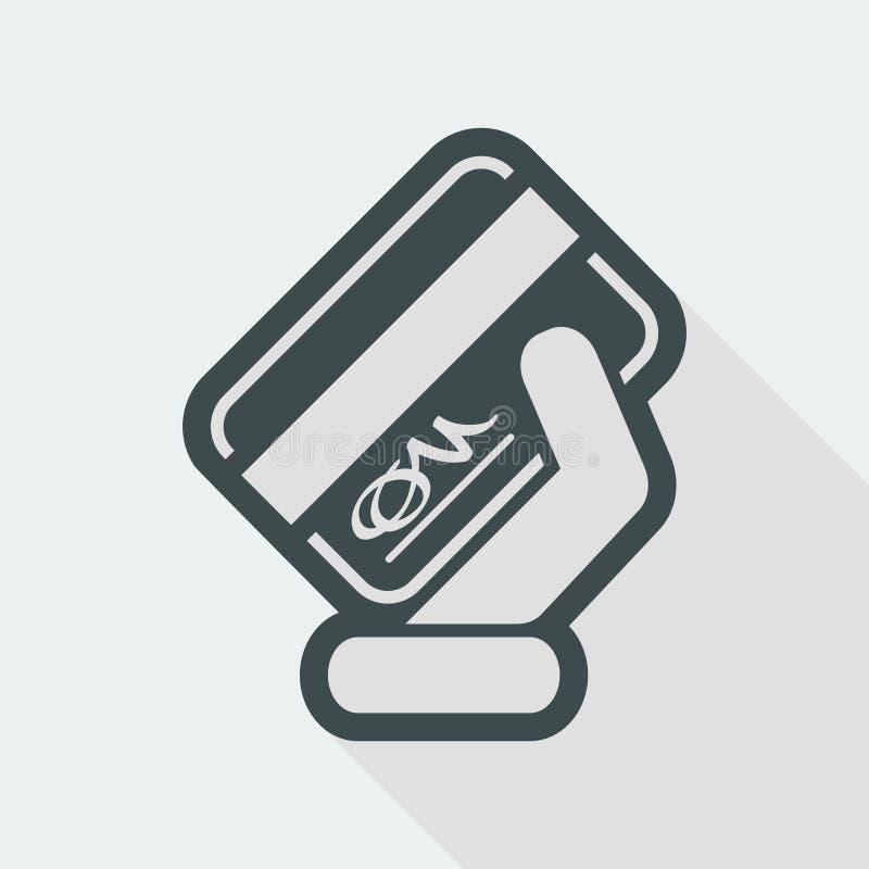 Signed credit card vector illustration