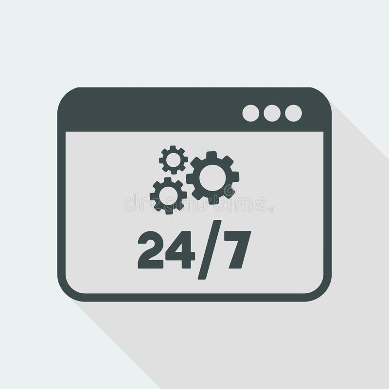 Technical Computer Support 24/7 - Vector Flat Icon Stock Vector -  Illustration of engine, progress: 117829098