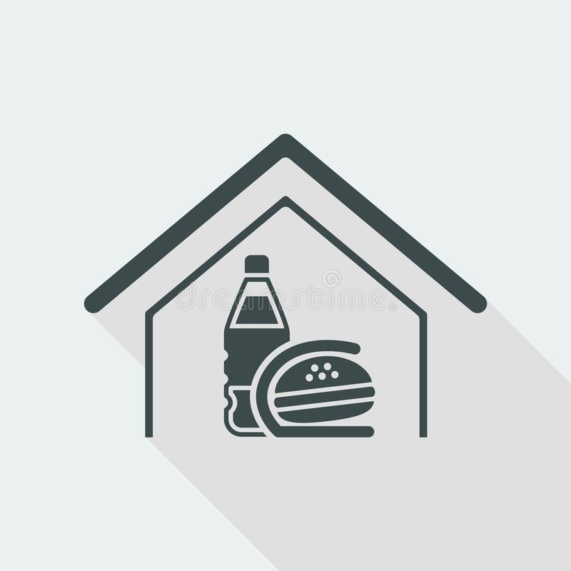 Vector illustration of single isolated fast food icon vector illustration