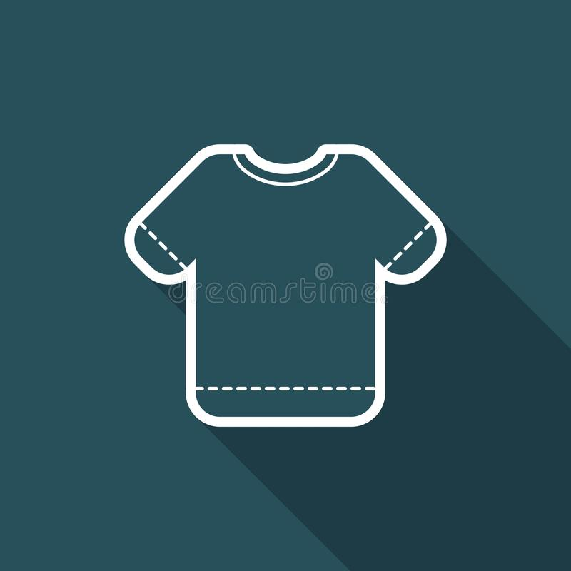 Vector illustration of single isolated t-shirt icon royalty free illustration