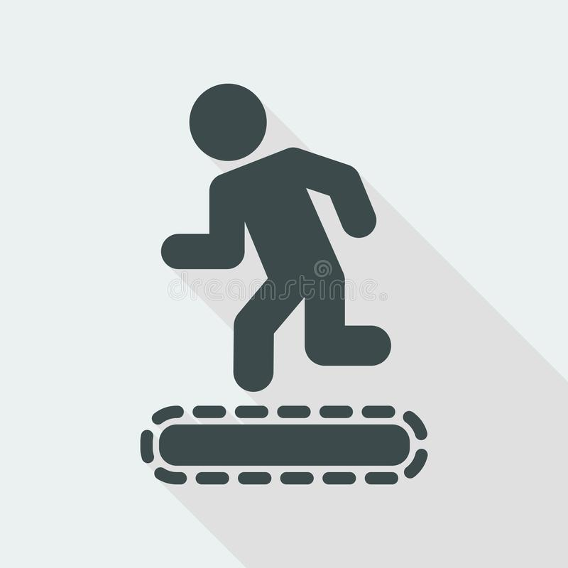 Vector Illustration Of Treadmill Or Tapis Roulant Single Isolated