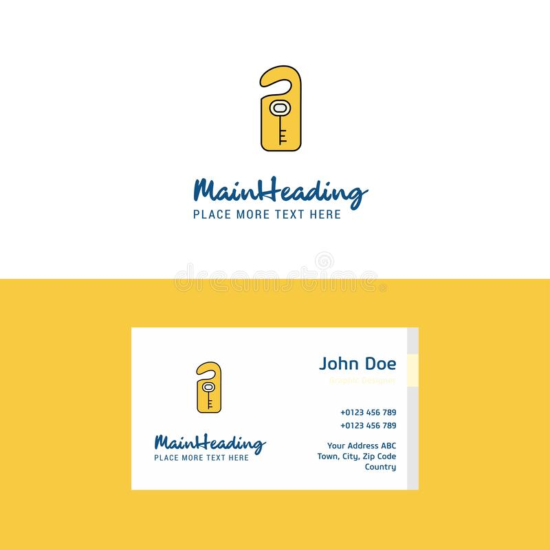 Flat Key tag Logo and Visiting Card Template. Busienss Concept Logo Design. This Vector EPS 10 illustration is best for print media, web design, application royalty free illustration