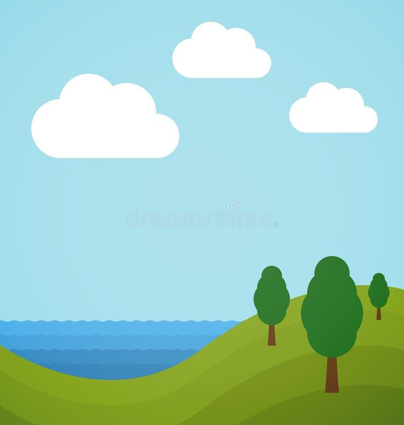Flat landscape stock illustration