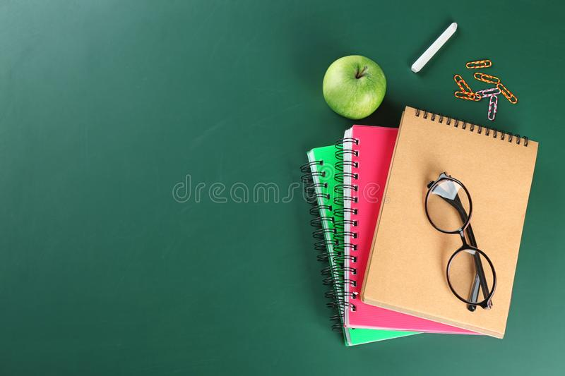 Flat lay composition for Teacher`s day royalty free stock image